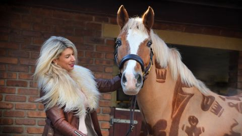 Melody Hames combines her two loves -- art and horses -- to create striking designs by clipping her equine subjects' coats.