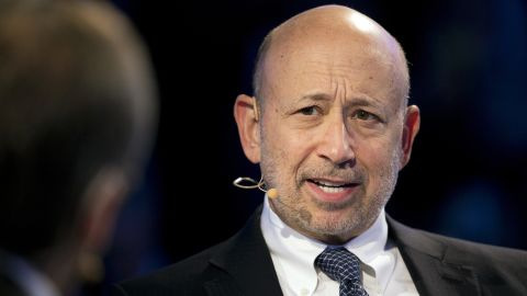 FILE- In this Sept. 20, 2017, file photo, Goldman Sachs chairman and CEO Lloyd Blankfein speaks at the Bloomberg Global Business Forum in New York. Blankfein is planning on retiring as soon as the end of this year, The Wall Street Journal is reporting. (AP Photo/Mark Lennihan, File)