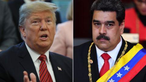 US President Donald Trump and embattled Venezuelan President Nicolas Maduro