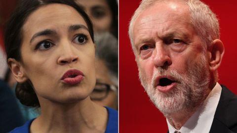 Alexandria Ocasio-Cortez and Jeremy Corbyn spoke in a phone call Sunday evening.