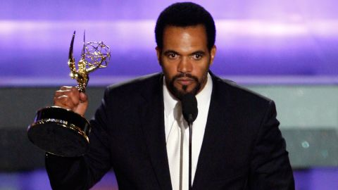 HOLLYWOOD - JUNE 20:  Actor Kristoff St. John accepts the award for Outstanding Supporting Actor in a Drama Series during the 35th Annual Daytime Emmy Awards held at the Kodak Theatre on June 20, 2008 in Hollywood, California.  (Photo by Vince Bucci/Getty Images)