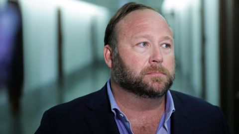 WASHINGTON, DC - SEPTEMBER 5: Alex Jones of InfoWars talks to reporters outside a Senate Intelligence Committee hearing concerning foreign influence operations' use of social media platforms, on Capitol Hill, September 5, 2018 in Washington, DC. Twitter CEO Jack Dorsey and Facebook chief operating officer Sheryl Sandberg faced questions about how foreign operatives use their platforms in attempts to influence and manipulate public opinion. (Photo by Drew Angerer/Getty Images)