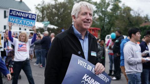 HAYMARKET, VA - OCTOBER 20:  Virginia State Attorney General Mark Herring (C) participates in the annual Haymarket Day parade October 20, 2018 in Haymarket, Virginia. Democratic U.S. House candidate and Virginia State Sen. Jennifer Wexton (D-33rd District) is challenging incumbent Rep. Barbara Comstock (R-VA) for the House seat that has been in Republican hands since 1981. Wexton is currently leading Comstock in most of the polls.  (Photo by Alex Wong/Getty Images)