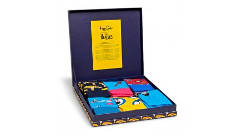 """<strong>The Beatles Collector Box Set ($96; </strong><a href=""""https://www.happysocks.com/us/the-beatles-collector-box-set-1.html"""" target=""""_blank"""" target=""""_blank""""><strong>happysocks.com</strong></a><strong>)  </strong><br />"""
