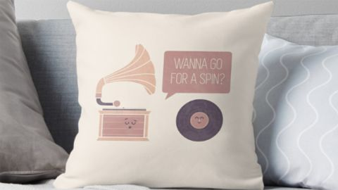 """<strong>The Player Throw Pillow ($21.50; </strong><a href=""""https://www.redbubble.com/people/theodorezirinis/works/21814612-the-player?p=throw-pillow&rel=carousel"""" target=""""_blank"""" target=""""_blank""""><strong>redbubble.com</strong></a><strong>) </strong>"""
