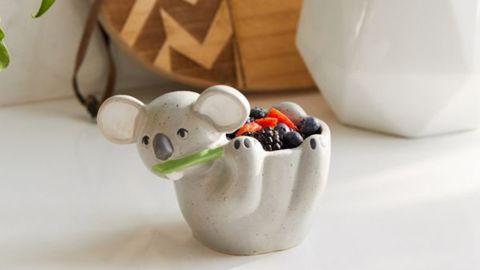 "<strong>Koala Snack Boal ($14; </strong><a href=""https://click.linksynergy.com/deeplink?id=Fr/49/7rhGg&mid=43176&u1=0219vdaygiftguide&murl=https%3A%2F%2Fwww.urbanoutfitters.com%2Fshop%2Fkoala-shaped-snack-bowl%3Fcategory%3Ddinnerware%26color%3D004%26type%3DDEFAULT"" target=""_blank"" target=""_blank""><strong>urbanoutfitters.com</strong></a><strong>) </strong>"
