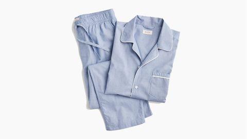 "<strong>J.Crew Men's Pajama Set ($79.50;</strong><a href=""https://www.jcrew.com/p/mens_category/underwearpajamas/pajamasets/pajama-set-in-cotton-poplin/H8038?color_name=bold-peri"" target=""_blank"" target=""_blank""><strong> jcrew.com</strong></a><strong>) </strong>"