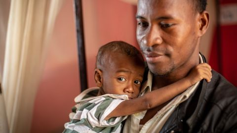 Jean Claude Nambinintsoa traveled for 24 hours in a mini-bus taxi to get his 15-month-old, Pierrot, to the hospital.