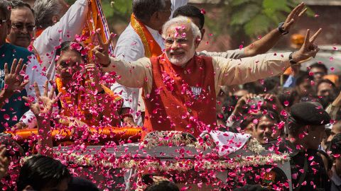 Indian Prime Minister Narendra Modi is seeking reelection this year, but faces challenges spawned by a troubled economy and sectarian tensions.