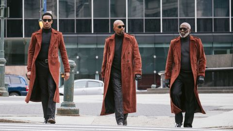 """Jessie T. Usher, from left, Samuel L. Jackson and Richard Roundtree star in """"Shaft."""""""