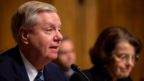 Senate Judiciary Committee Chairman Sen. Lindsey Graham (R-SC) speaks during a Senate Judiciary confirmation hearing for Neomi Rao, U.S.