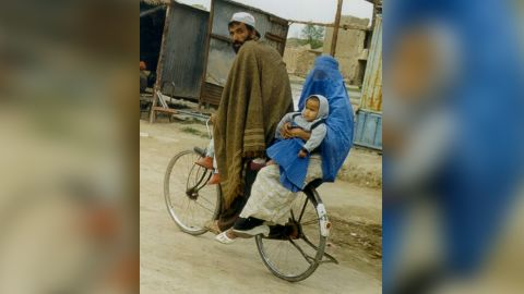 Hunt took this photo of a street scene in Afghanistan during a visit in 1998, while the country was under Taliban rule.
