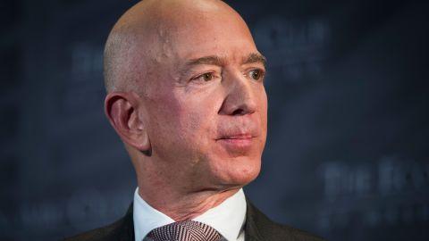 Jeff Bezos, Amazon founder and CEO, speaks at The Economic Club of Washington's Milestone Celebration in Washington, Thursday, Sept. 13, 2018.