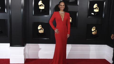 Alicia Keys was hosting the Grammys for the first time.