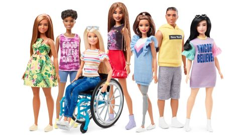 """Barbie is introducing <a href=""""https://www.cnn.com/2019/02/12/us/barbie-doll-disabilities-trnd/index.html"""" target=""""_blank"""">dolls with wheelchairs and prosthetic limbs</a> in its newest Fashionistas line, which aims to offer kids more diverse representations of beauty. Mattel is marking the 60th birthday of the iconic Barbie brand, which was launched on March 9, 1959. See how the doll has changed through the years."""
