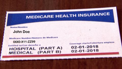 A sample of a medicare card.