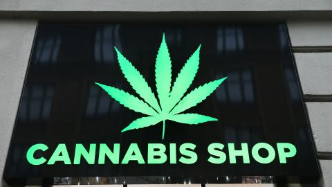 KRAKOW, POLAND - 2019/02/02: Dr Ziolko, Cannabis Shop is a legally operating store in the center of Krakow, which sales hemp products including cosmetics, hemp flowers and marijuana. (Photo by Damian Klamka/SOPA Images/LightRocket via Getty Images)