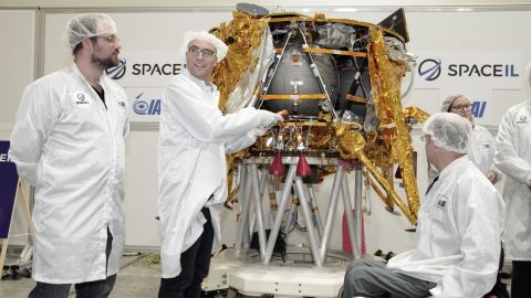 """The spacecraft, called """"Beresheet,"""" weighs 1,300 pounds and stands approximately five feet tall."""