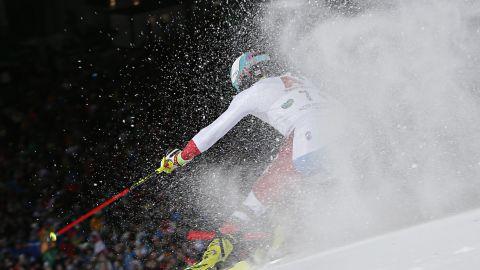 Switzerland's Daniel Yule competes in Schladming
