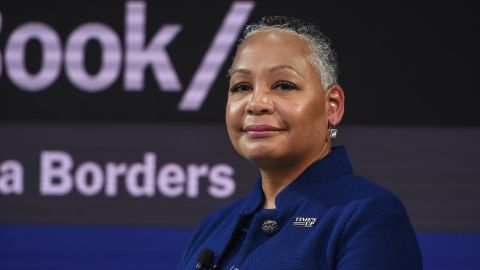 Lisa Borders appears at a Time's Up event in November.