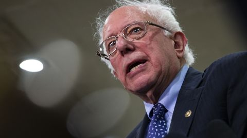 Senator Bernie Sanders, an Independent from Vermont, speaks to members of the media following a briefing on the murder of U.S-based columnist Jamal Khashoggi with U.S. Secretary of State Mike Pompeo on Capitol Hill in Washington, D.C., U.S., on Wednesday, Nov. 28, 2018. The briefing is happening ahead of a vote on a measure to invoke the War Powers Resolution to end U.S. support for the Saudi-led military campaign in Yemen.