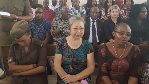 Yang Feng Glan, known as 'Queen of Ivory, pictured during trial in a Tanzanian court