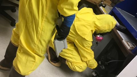 OSHA sent inspectors in protective suits to check the museum, the park's safety manager says.