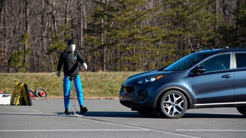 The Kia Sportage's pedestian detection was rated as Advanced by the Insurance Institute for Highway Safety.