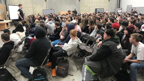 Paradise High School students gather for an assembly on Tuesday.