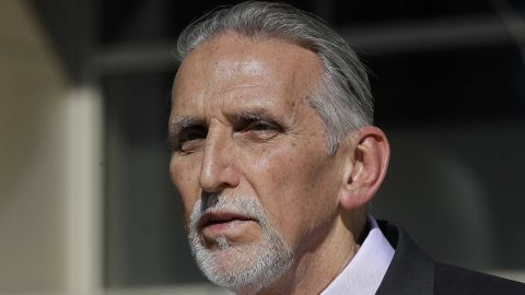 """Craig Coley, who spent 39 years in prison for a murder he didn't commit, talks with reporters Thursday, Feb. 15, 2018, in Sacramento, Calif. Coley says it was the """"worst nightmare"""" and even nearly $2 million in state compensation can't make up for his lost time. (AP Photo/Rich Pedroncelli)"""