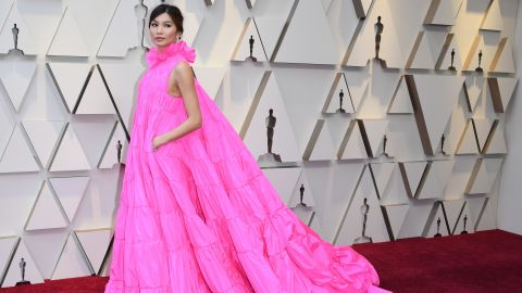 Actress Gemma Chan arrives for the 91st Annual Academy Awards at the Dolby Theatre in Hollywood, California on February 24, 2019. (Photo by Mark RALSTON / AFP)        (Photo credit should read MARK RALSTON/AFP/Getty Images)