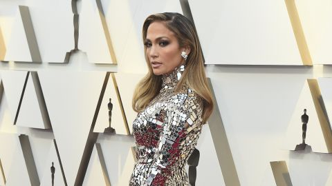 Presenter Jennifer Lopez stunned in a long-sleeved, mirror embroidered Tom Ford gown. Earlier in the night, she tweeted a clip of her walking out onto the Oscars stage in 1999 in Badgley Mischka, reminding us, two decades on, JLo still reigns on the red carpet.<br />