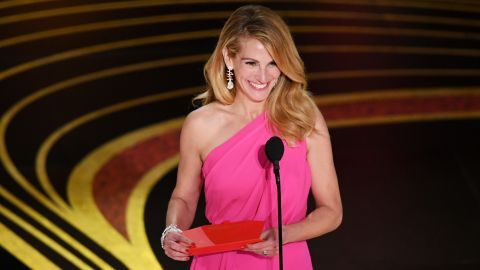 Julia Roberts, seen here on stage during the 91st Annual Academy Awards in 2019, as among the actors who did not score an Emmy nomination on Tuesday.