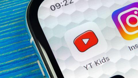 Sankt-Petersburg, Russia, June 20, 2018: YouTube kids application icon on Apple iPhone X smartphone screen close-up. Youtube kids app icon. Social media icon. Social network; Shutterstock ID 1116766706; Job: -