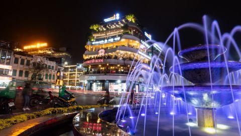 Hanoi's Hoan Kiem area seen on Monday, February 26.