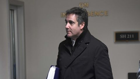 Michael Cohen, President Donald Trump's former personal attorney, leaves Capitol Hill in Washington, Thursday, Feb. 21, 2019. The Senate intelligence committee will interview Cohen behind closed doors on Feb. 26, according to a person familiar with the matter. (AP Photo/Susan Walsh)