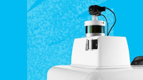 FedEx's robot uses sensors like those on a self-driving car to navigate sidewalks.