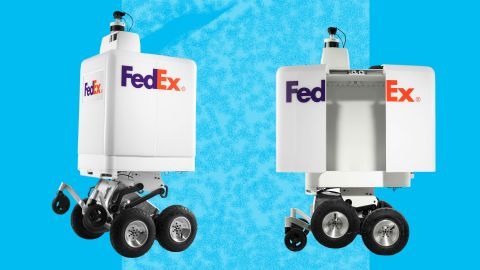 FedEx's six-wheeled, autonomous robot called the SameDay Bot will hit streets this summer.
