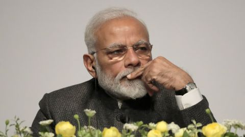 Indian Prime Minister Narendra Modi listens at the India Korea Business Symposium in Seoul, South Korea, Thursday, Feb. 21, 2019. Modi arrived Thursday for a two-day state visit and will meet with South Korean President Moon Jae-in.