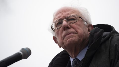 US Senator Bernie Sanders speaks during a rally to kick off his 2020 US presidential campaign, in the Brooklyn borough of New York City on March 2, 2019. (Photo by Johannes EISELE / AFP)        (Photo credit should read JOHANNES EISELE/AFP/Getty Images)