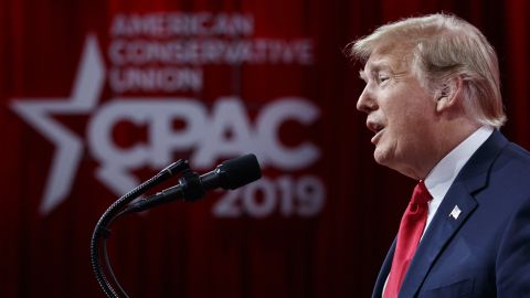 President Donald Trump speaks at Conservative Political Action Conference, CPAC 2019, in Oxon Hill, Md., Saturday, March 2, 2019. (AP Photo/Carolyn Kaster)