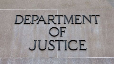 The exterior of the United States Department of Justice on Feb 16, 2018 in Washington, D.C.  / AFP PHOTO / Alex Edelman        (Photo credit should read ALEX EDELMAN/AFP/Getty Images)