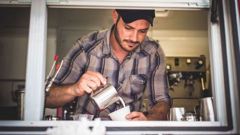 Syrian refugee Ahmad Alzoukani started with Refuge Coffee two weeks after arriving in Clarkston, Georgia.