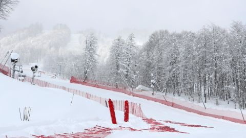 The women's super-G falls victim to Sochi's curious weather patterns.