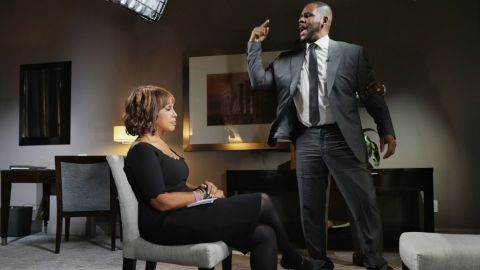 CBS THIS MORNING co-host Gayle King sat down with R&B singer R. Kelly Tuesday in Chicago for his first television interview since he was arrested on 10 sexual abuse charges. The interview airs Wednesday, March 6 and Thursday, March 7, on CBS THIS MORNING (7:00-9:00 AM) on the CBS Television Network.  Photo Credit: CBS/Lazarus Jean-Baptiste é2019CBS Broadcasting Inc. All Rights Reserved.