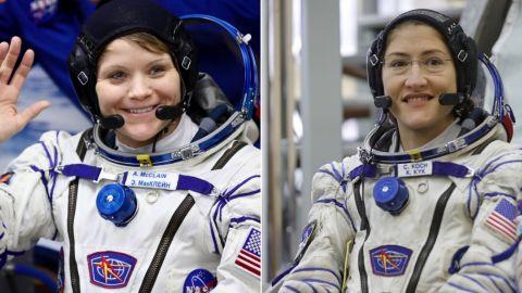Left: NASA astronaut Anne McClain; Right: NASA Astronaut Christina H. Koch