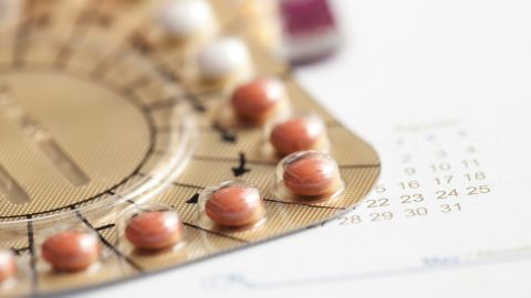 Hormone replacement therapy pills macro.