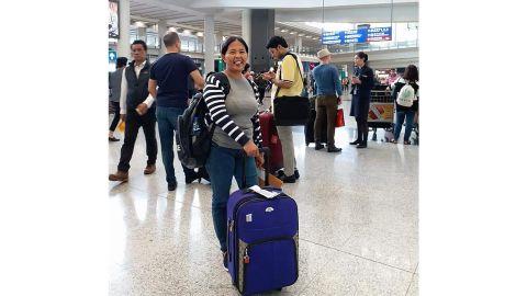 Baby Jane Teodoro Allas arrives in Hong Kong in 2017.