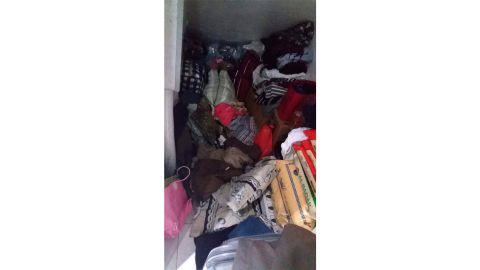 Inside the cupboard where Allas says she had to sleep.