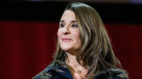 NEW YORK, NY - FEBRUARY 13:  Melinda Gates speaks during the Lin-Manuel Miranda In conversation with Bill & Melinda Gates panel at Hunter College on February 13, 2018 in New York City.  (Photo by John Lamparski/Getty Images)